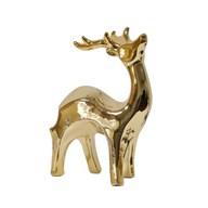 Ceramic Gold Reindeer 19cm
