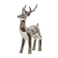 Ceramic Silver Reindeer 22cm