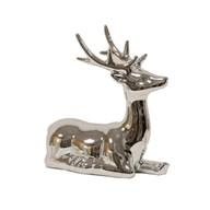 Ceramic Silver Reindeer 14cm
