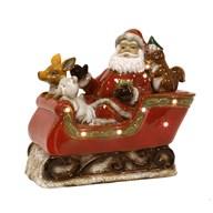 LED Ceramic Santa Sleigh 40cm