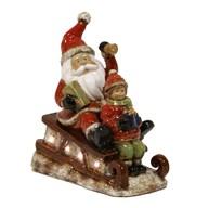 LED Santa on Sledge 31cm