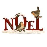 Xmas Robin Deco Noel 12.5cm