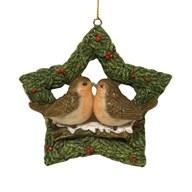 Xmas Robin Star Hanging Dec