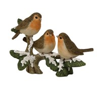 Christmas Robins on a Branch Decoration 15cm
