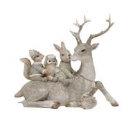 Deco Reindeer Figurine 17cm