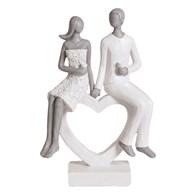 Couple Heart Figurine 20cm