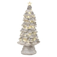 LED White Xmas Tree 37cm