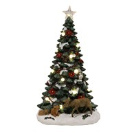 LED Christmas Tree with Woodland Animals 48.5cm