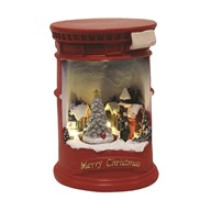 LED Post Box Village Scene20cm