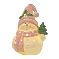 LED Light Up Snowman 26cm