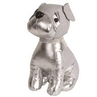 Silver Pug Door Stop 26cm