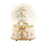 Musical Santa Snow Globe White (15cm Globe)