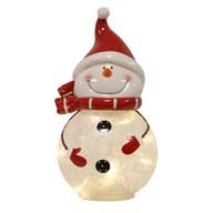 LED Ceramic Snowman 28cm