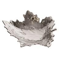Silver Maple Leaf Dish 23cm