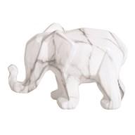 Ceramic Marble Elephant 21cm