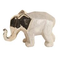 Ceramic Gold Elephant 21cm