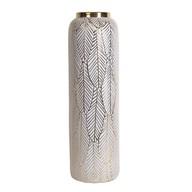 Ceramic Gold Etched Vase 48.5cm