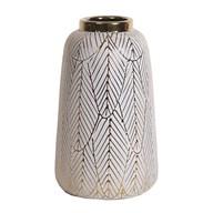 Ceramic Gold Etched Vase 27cm