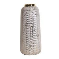 Ceramic Gold Etched Vase 34.5cm