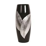 Black & Silver Leaf Vase 36cm