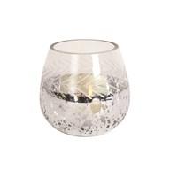 Etched Glass Tealight Holder 9cm