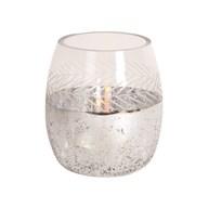 Etched Glass Tealight Holder 12cm
