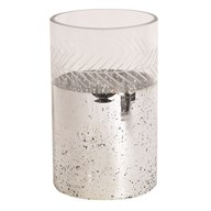 Etched Glass Candle Holder 20cm