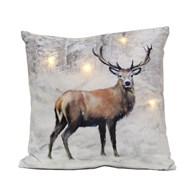 LED Stag Cushion 40cm x 40cm