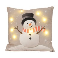 LED Snowman Cushion 45x45