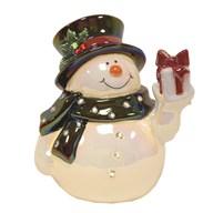 Light Up Snowman 17cm