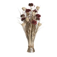 Gold Rose Floral Grass 70cm