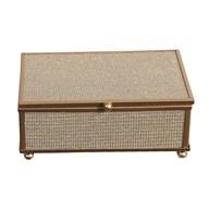 Gold Rim Jewellery Box 15x10cm