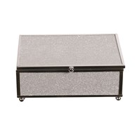 Silver Rim Jewellery Box 15x10cm