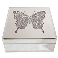 Butterfly Mirror Jewellery Box 18x18cm