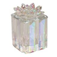 Lustre Crystal Lotus Trinket Box 11x14cm