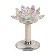 Lustre Crystal Lotus Tealight Holder 15cm