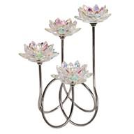 Lustre Crystal Lotus Tealight Holder 36cm