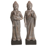 Deco Resin Buddha 40.5cm 2Asst