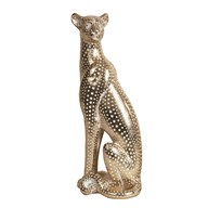 Leopard Figurine Gold 38cm