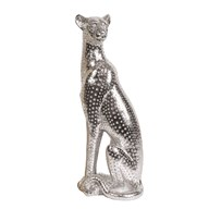 Leopard Figurine Silver 38cm