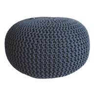 Knitted Pouffe Blue 50x30cm