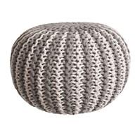 Knitted Pouffe Stripe 50x30cm