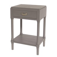 1 Drawer Accent Table in Carbon Grey 45x35x68cm