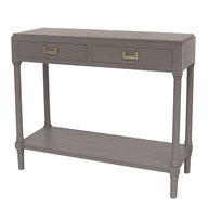 2 Drawer Console Table in Carbon Grey 90x33x75cm