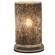 Black and Gold Crackle Touch Table Lamp 24cm