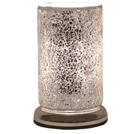 Silver Crackle Touch Table Lamp 24cm