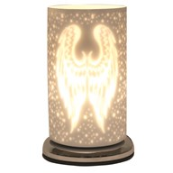 Angel Wings White Satin Touch Table Lamp 24cm
