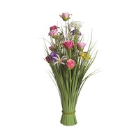 Grass Floral Bundle Pink and Lilac Dahlia and Rose 70cm