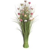 Grass Floral Bundle Pink and Peach Peony and Camellia 100cm