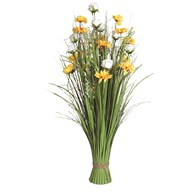 Grass Floral Bundle Yellow and White Sunflower and Rose 100cm